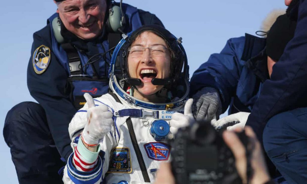 bruary 6, 2020 marked the day that  Christina Koch complete her 328 day journey into space. She broke the record for the longest single spaceflight in history by a woman. Sergei Ilnitsky, Staff Photographer for European Pressphoto Agency (EPA), with this photo expressed the excitement and delight of this unparalleled feat. PHOTOS THAT WRAP-UP 2020