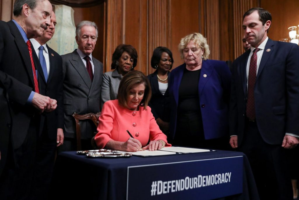 2020 started-off with a bang, On January 16, 2020, Leah Millis, Senior Photographer for Reuters, captured Nancy Pelosi as she signed the articles of impeachment. An image that brought a momentary ray of hope for many Americans.