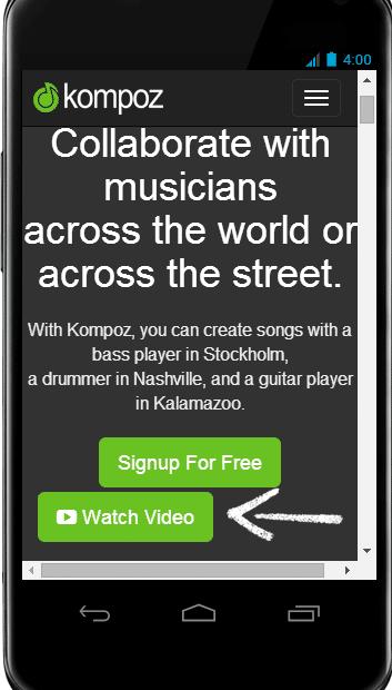 Collaborative music app Kompoz