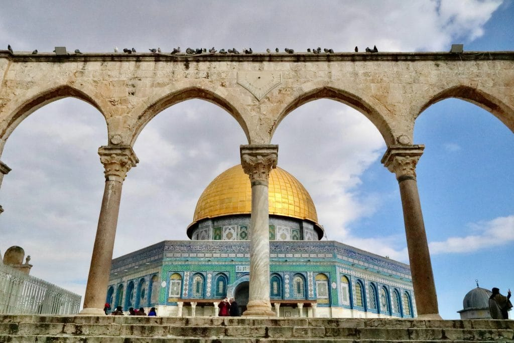 Jerusalem, part of the contested area in the Israeli-Palestinian conflict.