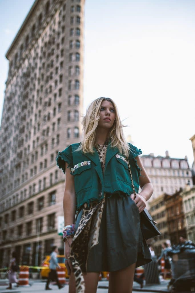 Fashionable woman in New York