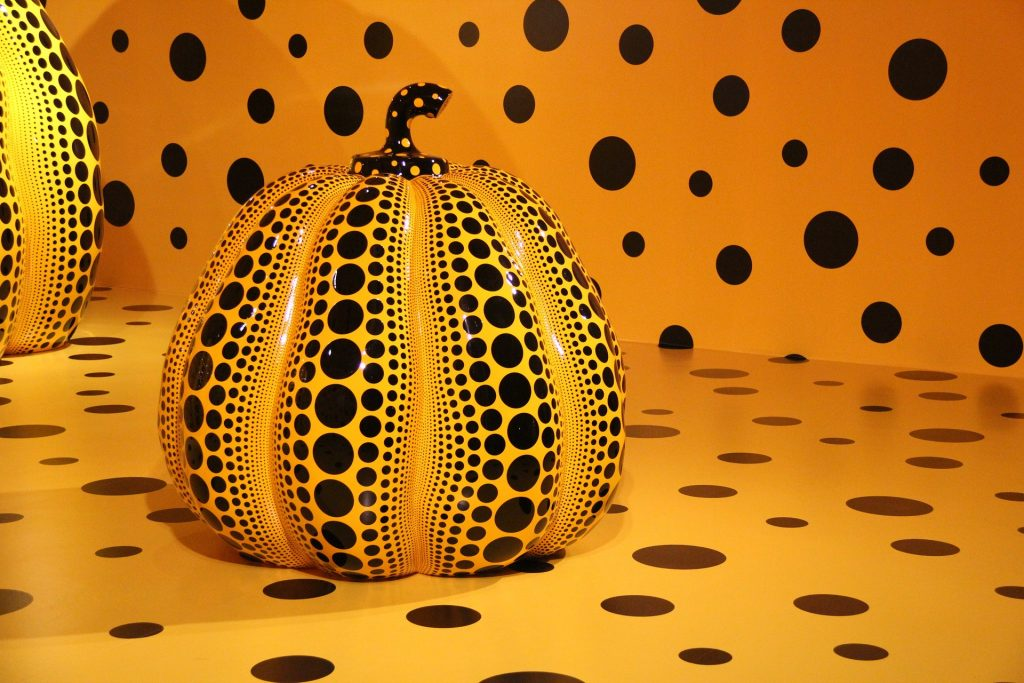A previous exhibit of Kusama's work.
