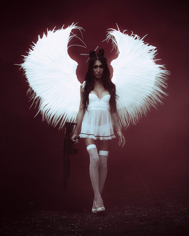 Victoria's Secret angel like lingerie set